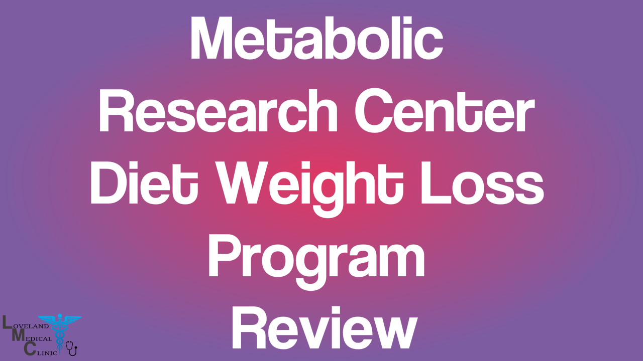 Metabolic Research Center Diet weight loss program review ...